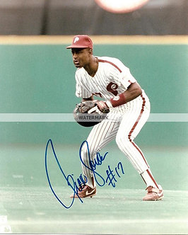 RICKEY JORDAN 1993 PHILLIES NL CHAMPS SIGNED 8X10