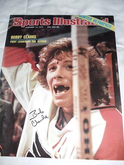 Bob Clarke Philadelphia Flyers signed Sports Illustrated 11x14 photo