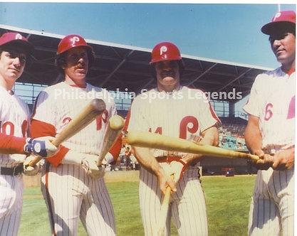 1980 Philadelphia Phillies World Series infield Schmidt Rose Bowa Trillo 8x10