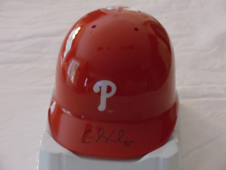 Cole Hamels autographed Philadelphia Phillies mini helmet 2008 World Series