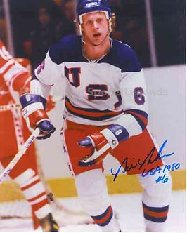 Bill Baker signed 1980 USA Miracle on Ice Olympic Ice Hockey 8x10
