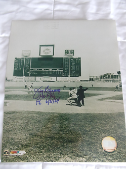 Jim Bunning Philadelphia Phillies signed perfect game 11x14 with inscription