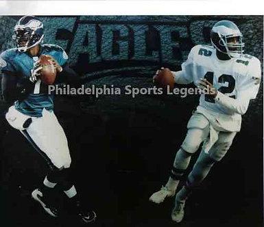 Randall Cunningham Michael Vick Philadelphia Eagles rushing QB's