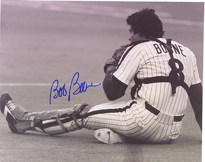 Bob Boone Philadelphia Phillies signed vintage 11x14 photo
