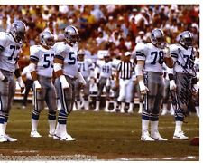 ED TOO TALL JONES DALLAS COWBOYS AUTOGRAPHED 8X10 D LINE PHOTO RANDY WHITE