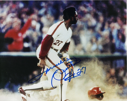 LONNIE SMITH AUTOGRAPHED 1980 PHILADELPHIA PHILLIES WORLD SERIES PHOTO #2