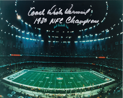 Dick Vermeil signed 1980 Philadelphia Eagles Super Dome 8x10 photo Super Bowl XV
