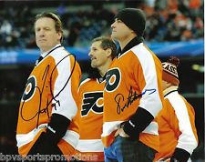 ERIC LINDROS JEREMY ROENICK DUAL SIGNED PHILADELPHIA FLYERS WINTER CLASSIC 8X10