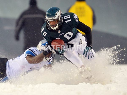 DESEAN JACKSON EAGLES SNOW PHOTO #1