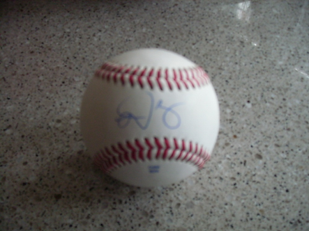Domonic Brown Philadelphia Phillies autographed baseball