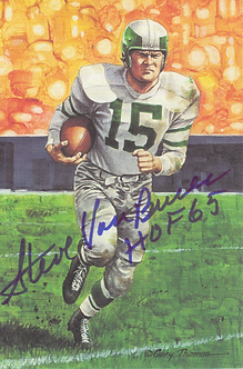Steve Van Buren autographed Goal Line Art card Philadelphia Eagles Hall of Fame