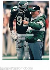 Buddy Ryan Philadelphia Eagles signed 11x14 with Reggie White