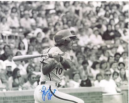 Larry Bowa signed 1974 Philadelphia Phillies action 8x10 photo