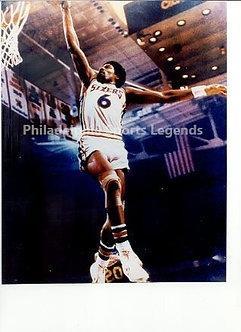 Julius Dr. J Erving 1983 Philadelphia 76ers slam dunk 8x10 photo #2