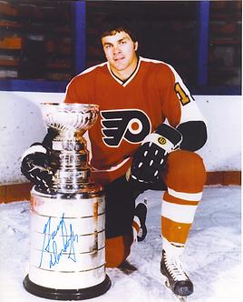 Gary Dornhoeffer signed Flyers 8x10 w/Stanley Cup Broad Street Bullies