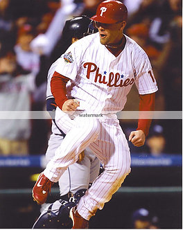 GEOFF JENKINS 2008 PHILLIES WORLD SERIES GAME WINNING RUN 2