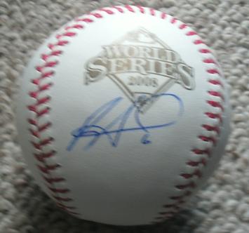 Ryan Howard autographed 2008 Phillies World Series baseball