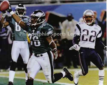 Brian Westbrook Philadelphia Eagles Super Bowl XXXIX Touchdown 8x10 photo
