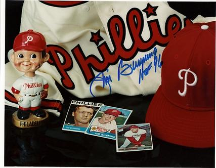 Jim Bunning Philadelphia Phillies signed 8x10 collage Hall of Fame