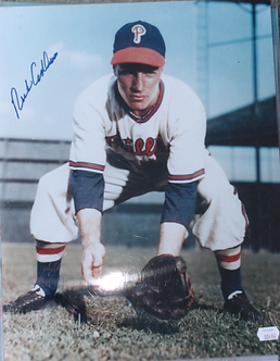 Rich Ashburn autographed 11x14 photo Phillies Hall of Fame