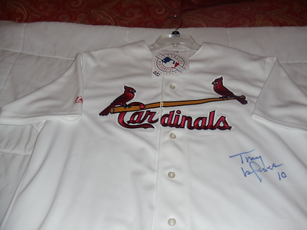 Tony LaRussa St Louis Cardinals autographed jersey World Series Champ