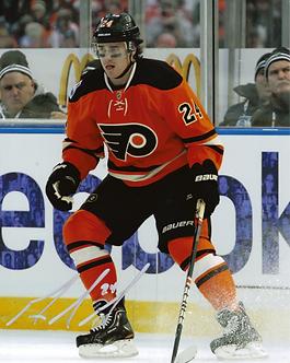Matt Read autographed Philadelphia Flyers Winter Classic photo vs NY Rangers #1