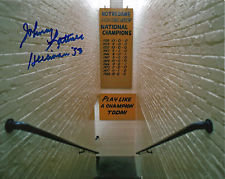 JOHNNY LATTNER AUTOGRAPHED 8X10 PHOTO NOTRE DAME FIGHTING IRISH STAIRWAY