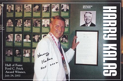Harry Kalas Philadelphia Phillies signed Ford C Frick Award photo