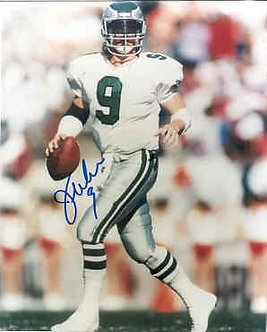 Jim McMahon Philadelphia Eagles autographed scrambling 8x10 photo
