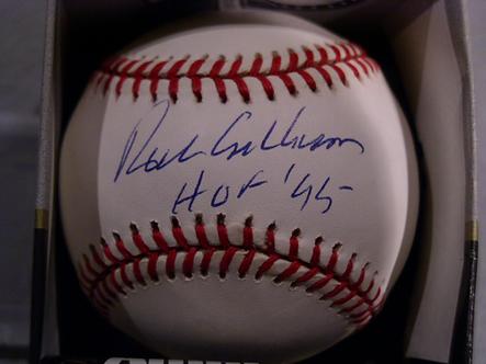 Richie Ashburn Philadelphia Phillies signed official baseball with HOF 95