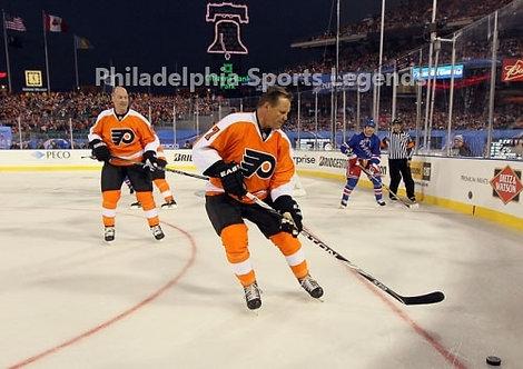 Bill Barber Brad Marsh Philadelphia Flyers 2011 Winter Classic Alumni 8x10 photo
