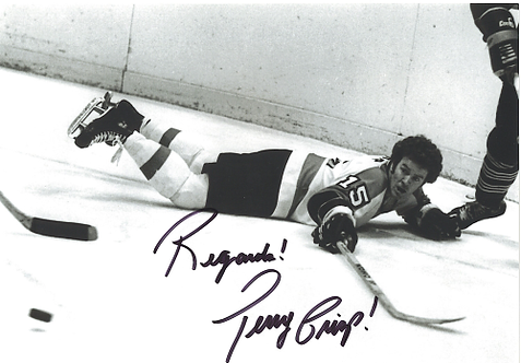 Terry Crisp Philadelphia Flyers autographed action 8x10 Broad Street Bullies