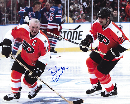 Bob Clarke signed Eric Lindros Philadelphia Flyers 2011 Winter Classic 8x10