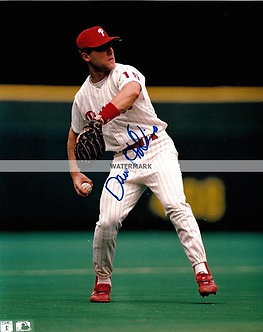 DAVE HOLLINS 1993 PHILLIES NL CHAMPS SIGNED 8X10