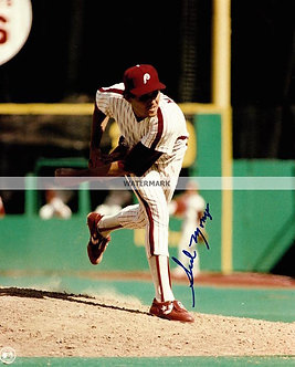 SID MONGE 1983 PHILADELPHIA PHILLIES SIGNED 8X10