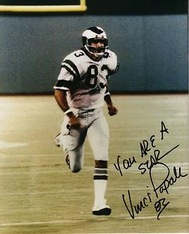 Vince Papale Philadelphia Eagles signed color 8x10 action photo INVINCIBLE