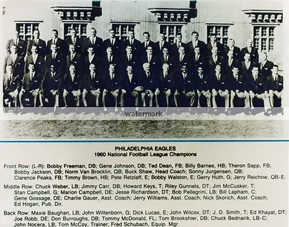 1960 NFL Champion Philadelphia Eagles team 8x10 photo
