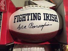 ARA PARSEGHIAN NOTRE DAME FIGHTING IRISH SIGNED LOGO FOOTBALL FULL SIZE