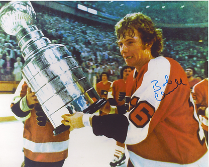 Bob Clarke autographed Stanley Cup 8x10 #2 Broad Street Bullies