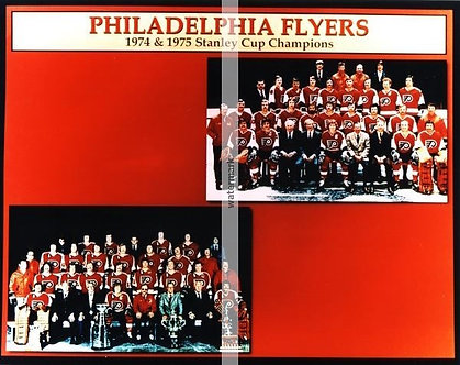 1973-74 and 1974-75 Stanley Cup Champion Philadelphia Flyers 8x10 Bullies