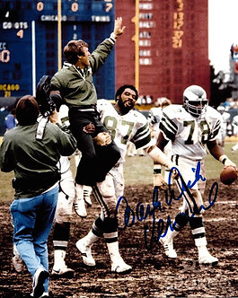 DICK VERMEIL EAGLES SIGNED 1980 NFC CHAMPIONS 8X10 PHOTO