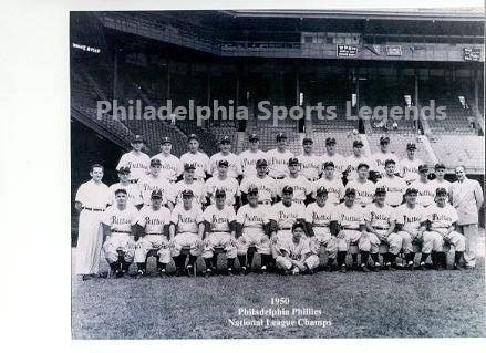 1950 Philadelphia Phillies Whiz Kids team 8x10 photo Ashburn Roberts