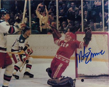 Mike Eruzione USA Olympic Hockey Miracle on Ice 8x10 signed game winning goal