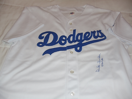 Duke Snider Los Angeles Brooklyn Dodgers autographed jersey