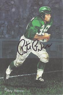 Pete Pihos autographed Goal Line Art card Philadelphia Eagles Hall of Fame