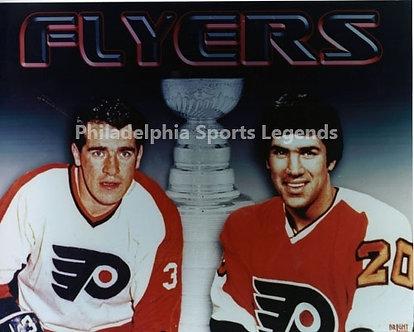 Jim and Joe Watson Philadelphia Flyers Stanley Cup 8x10 photo Bullies
