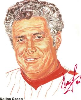 Dallas Green autographed 1980 Philadelphia Phillies 8.5x11 photo