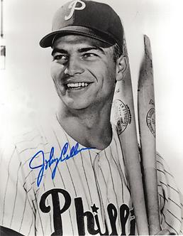 Johnny Callison 1964 Philadelphia Phillies signed black and white 8x10 phot0