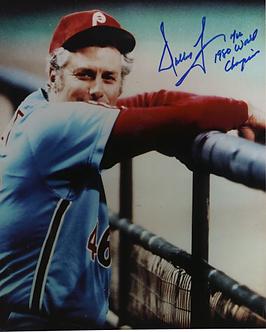 Dallas Green autographed 1980 Philadelphia Phillies Dugout 8x10 photo