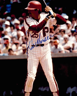 DEL UNSER 1980 PHILLIES WORLD SERIES CHAMPS SIGEND 8X10